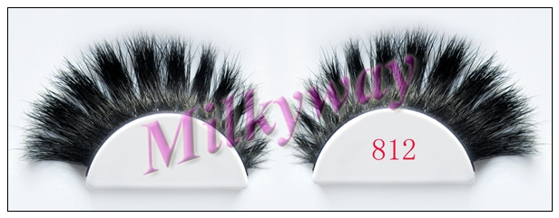 Milkyway high quality beautiful 100% real horse hair full strip lashes 812