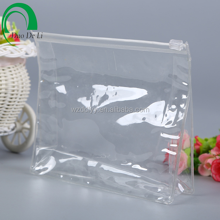 Cheapest students transparent pvc pens zipper bag