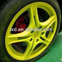 bright green spay rubber paint , peelable