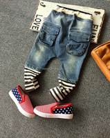 Cool Kids Fashion Baby Boys Jeans Loose Saggy Pants with Zipper Clothes Manufacturer Small Orders PT80810-12