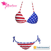 Wholesale American Flag Two Pieces Bikini From China