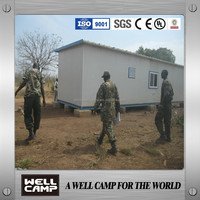 Somalia United Nation army prefab house/movable house steel base 800 sets in WELLCAMP