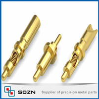 gold spring contact probes,DIP type pogo pin