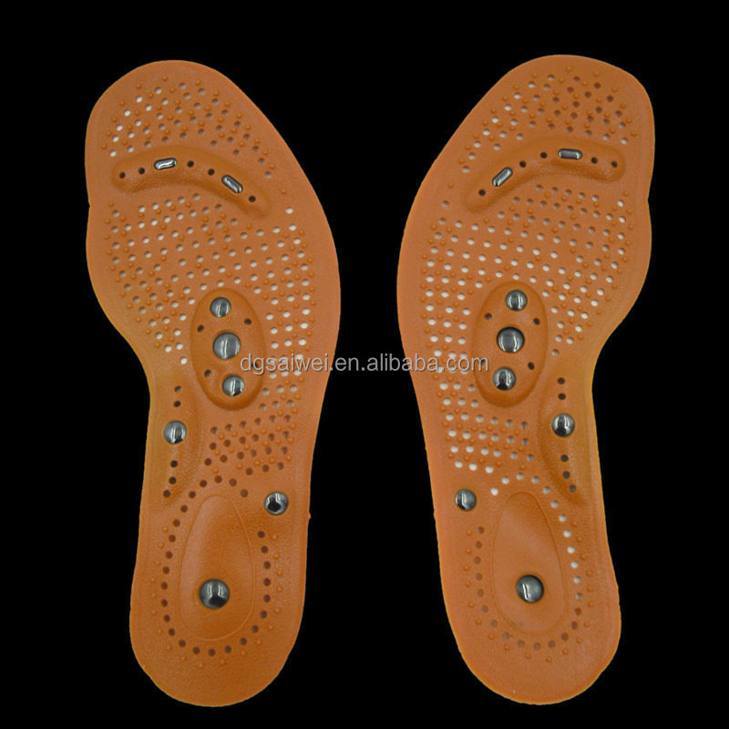 Foot massage insole with 8 magnet nano magnetic shoe insole for man and woman PVC resin insole for shoes