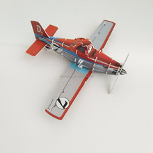 Custom diy toys 3d puzzle airplane, mini helicopter plastic puzzle