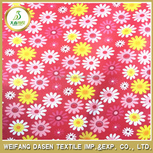 Cheap price daisy pattern 100% polyester printed fabric