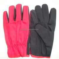 Red cotton with black Mini PVC dots work gloves