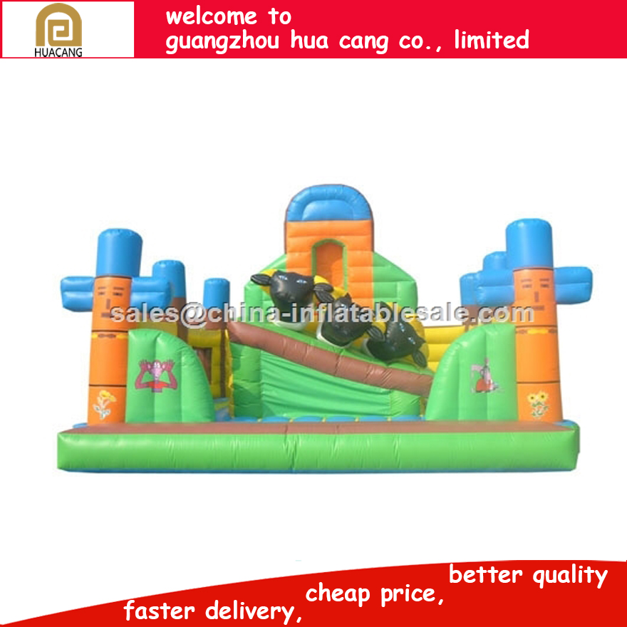 HC slide giant inflatable/jungle theme playground