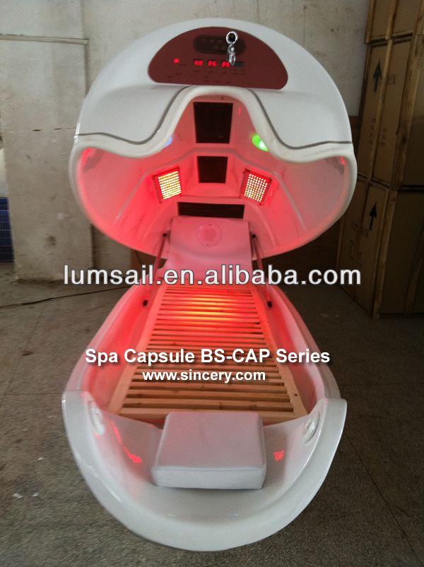 Infrared slimming machine spa capsule prices,ozone spa capsule with DVD palyer