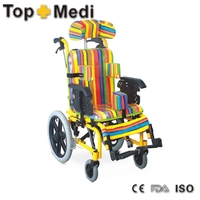 Top Seller Lightweight folding reclining baby pediatric Wheelchair