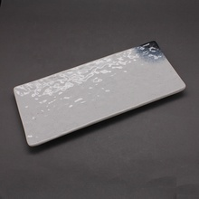 Hot Sale 10 Inch Rectangular <strong>Flat</strong> Uneven Surface Plate Unbreakable Japanese Platter