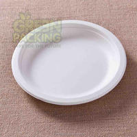 Sugarcane biodegradable disposable party paper plate 7 inch