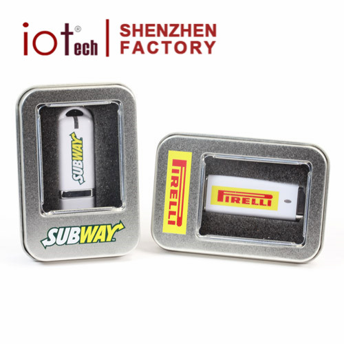 Support OEM Cheap USB Tin Box with Window, USB Package Wholesale