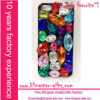 black colorful bling diamond phone cover for iphone 5