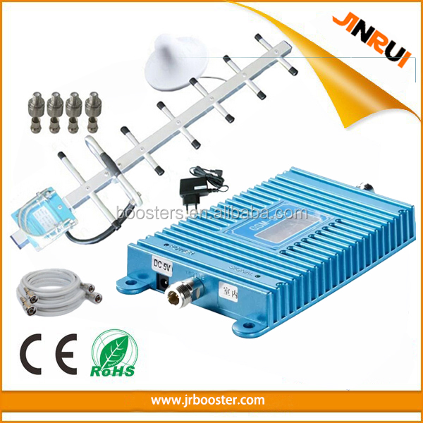 Easy check LCD Screen 3g wcdma cell phone booster antenna umts repeater ,70dbi 2100mhz signal booster, mobile network solution