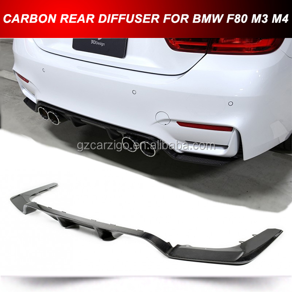 CARBON FIBER REAR BUMPER LOWER DIFFUSER FOR BMW F80 F82 M4 2016