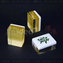 Gold cloth Mahjong 42*32*21.5mm High End Mahjong For Anti cheat Puzzle Game set Teaching supplies Toy Table Games Access