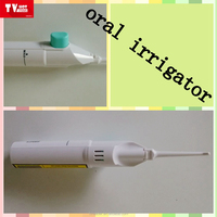 handy white oral irrigator dental medical devices water jet portable traveling water flosser