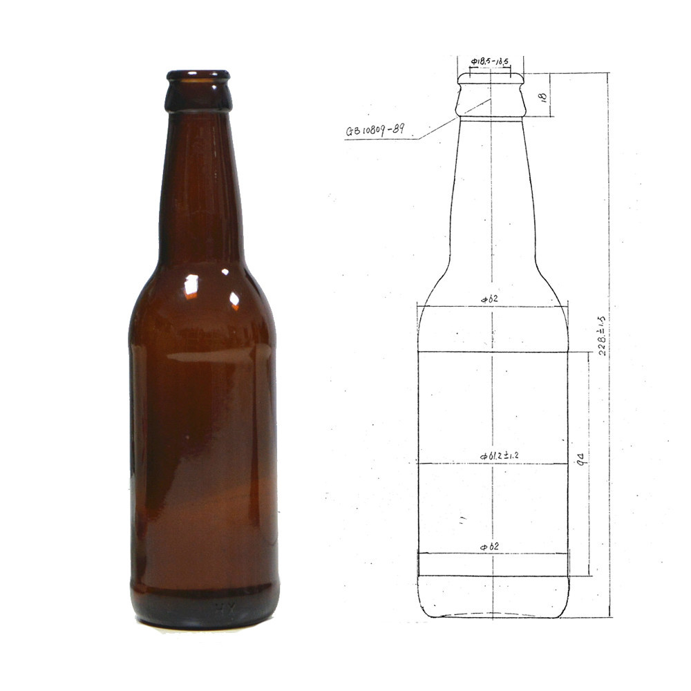 330ml Amber Glass Beer Bottle 12oz Glass Beer Bottle