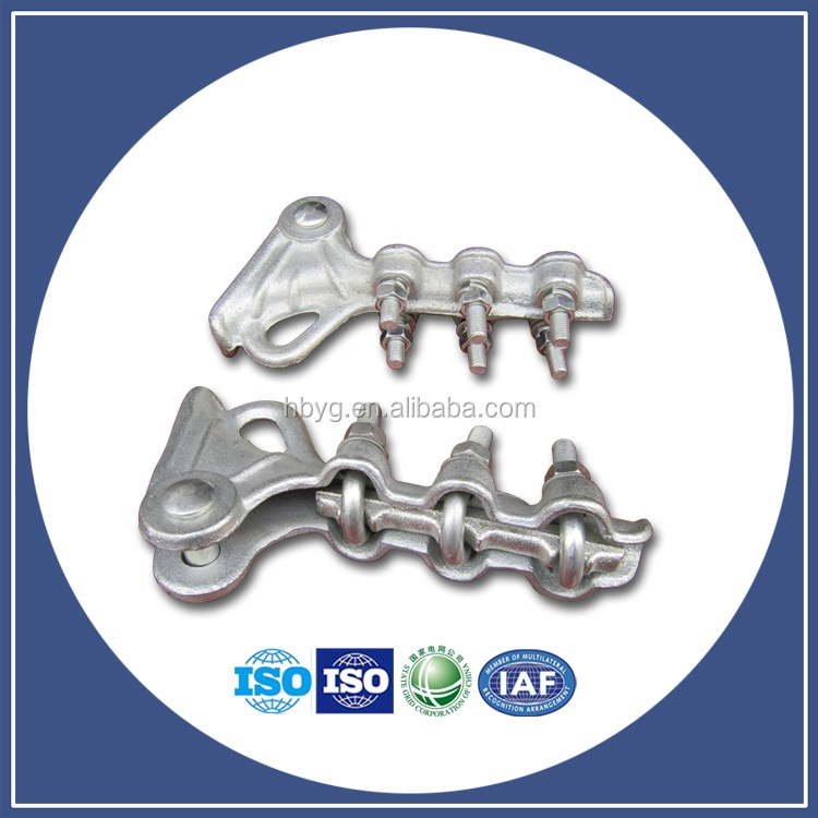 NLL Galvanized Bolt type tension clamp dead-end Strain Clamp for overhead power line fitting