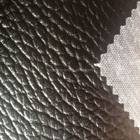high quality black synthetic car seat cover leather made in China