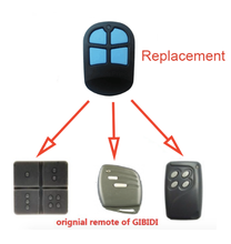 For Gibidi Garage Door Cloning Remote Control Key Fob 433mhz replacement