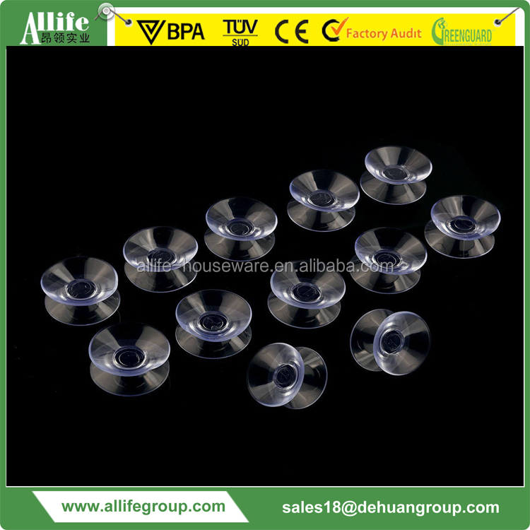 30mm Double Sided Suction Cups Sucker Pads for Glass Plastic (Clear)