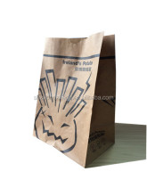 Printed brown paper bags for French fries , grocery,