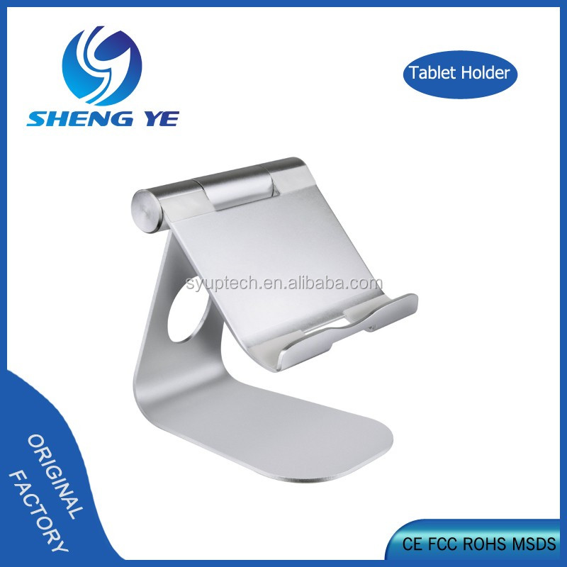 Factory Wholesale Desktop Cell Phone Stand Adjustable Universal Tablet Holder Aluminum Tablet Stand