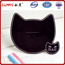 Kids memo cat shape wood blackboard