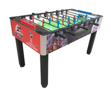 2017 new stickers outdoor wood foosball Tables with toughened glass