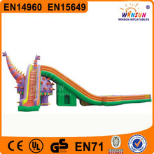 EN14960 Standard Popular giant dragon inflatable slide water beach