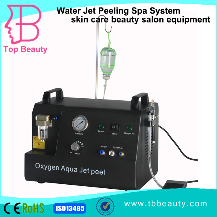 portable jet peel acne removal system / water oxygen skin care skin cleaning machine