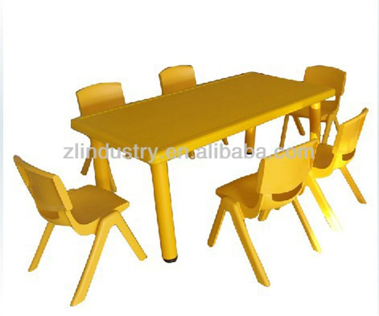 Preschool high quality stable cheap plastic colorful table for kids