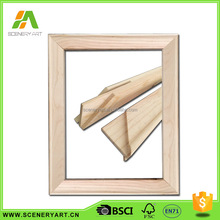 economic preferential price wooden stretcher bar / oval canvas frame / stretched and primed canvas