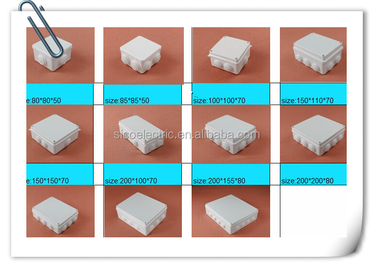 plastic junction boxes cctv cable connectors Distribution box Switch Box