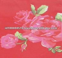 Red Color 100% Polyester Printed Chiffon Fabric