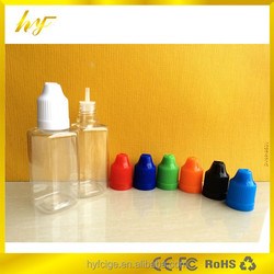 30ml square PET plastic e liquid dropper bottle with child proof lid and long thin tip from manufacturer in China
