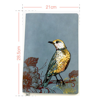 Hot Seller New Vintage Pattern Wholesale A5 A6 B5 Soft Pu Leather Cover Multicolor Gold or Sliver Edge Journal Notebook