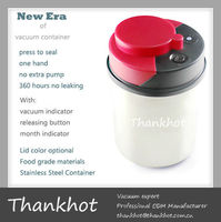 Small container, vacuum sealed,FDA/EU approved, Stainless steel body, ABS,silicon gel Lid