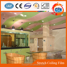 cheap price colorful ceiling tiles high glossy plastic soundproof ceiling film