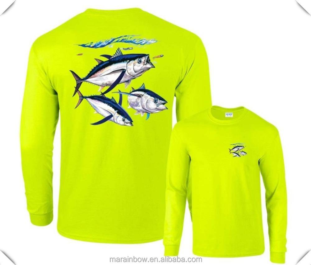 Cool dri fit mens long sleeve t shirt upf 50 fishing for Dri fit fishing shirts