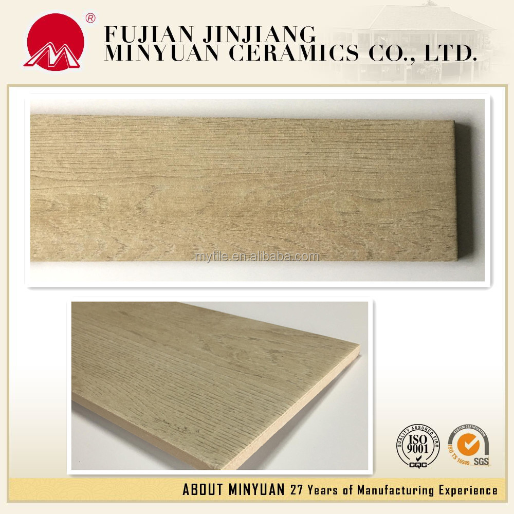 Chinese wood color ceramic floor tiles of 150*800 mm size
