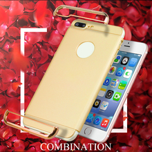 hot sale & high quality for iphone 7 case 3 in 1 electroplating PC wholesale online