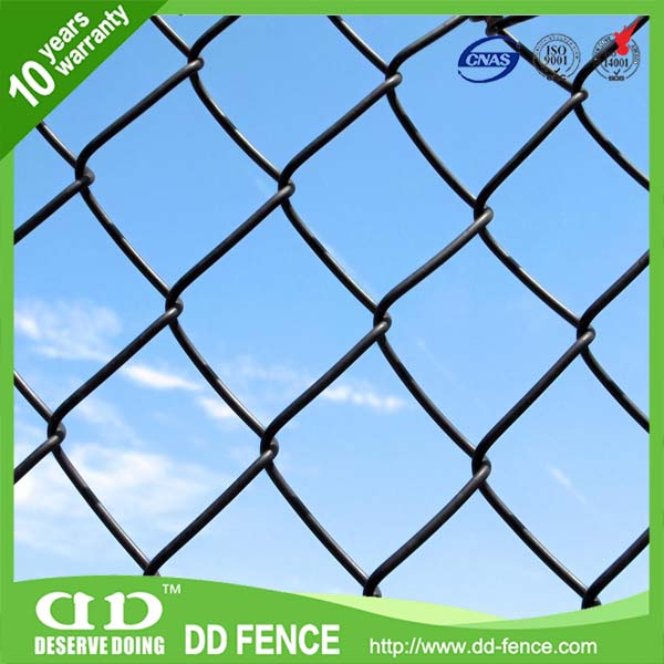 security alibaba pvc coated 5x5 black chain link fencing manufacture