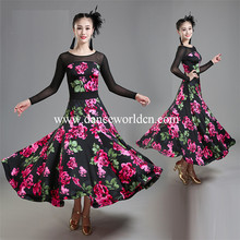 Wholesale Cheap Professional Ladies Long Fashion Competition Dance Ballroom Dress