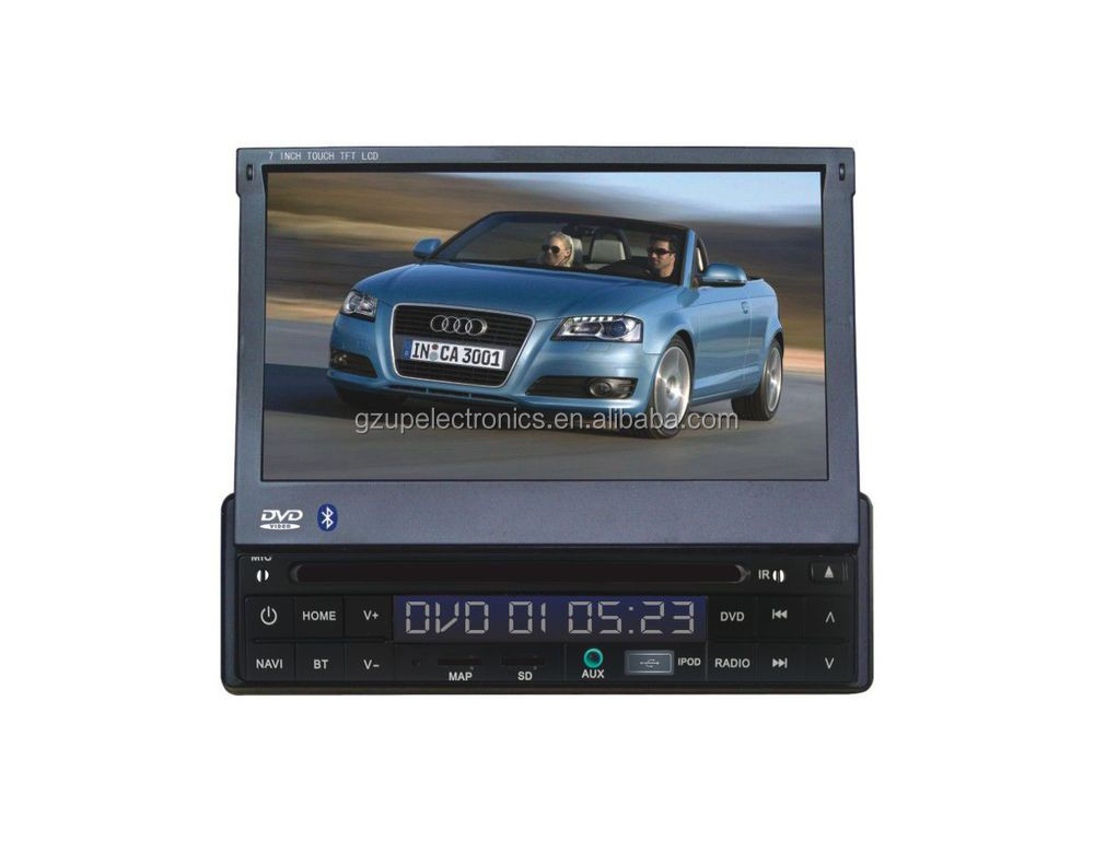 1 din 7 inch car DVD player with GPS,Bluetooth,TV