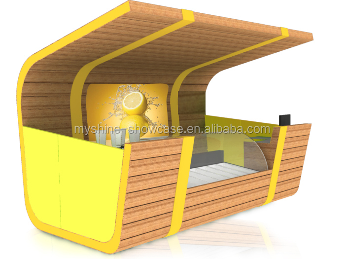 Low price creative design juice kiosk with fresh juice counter