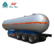 3 axle LPG tanker semi trailer for propane liquid transportation