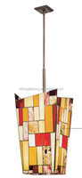 colorful irregular mosaic glass shade chandelier /pendant light